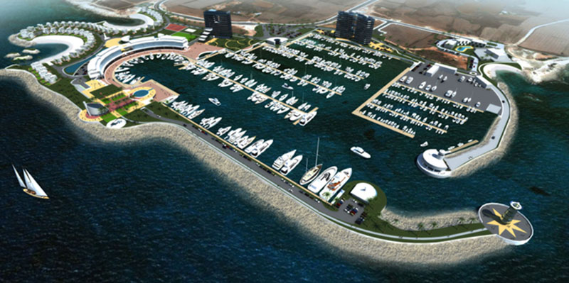 Construction of marina in Ayia Napa